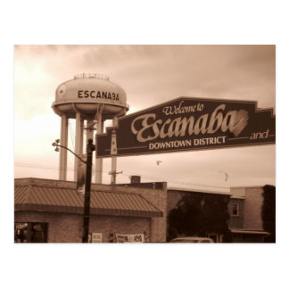 Willkommen zu Escanaba Postkarten