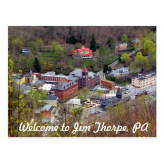 Willkommen zu Jim Thorpe Postkarte