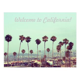 Willkommen zu Kalifornien Postkarte