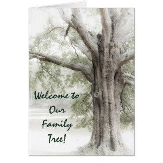 Willkommen zu unserem Stammbaum Notecard Grußkarte