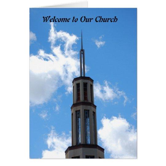 Willkommen zu unserer Kirche Grußkarte