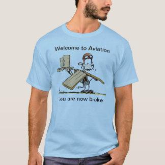 Willkommen zum Luftfahrt-lustigen T-Shirt