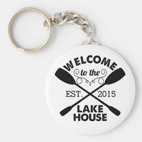 Willkommen zum See-Haus Schlüsselanhänger