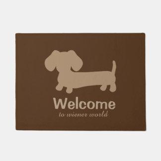 Willkommen zur Matte der Dackel-Hundeweltvorderen