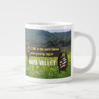 Willkommen zur schönen Napa- Valleykaffee-Tasse Jumbo-Tasse