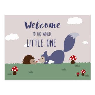 Willkommen zur Welt Postkarte