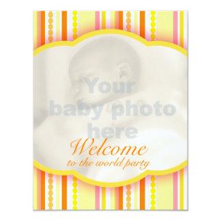 Willkommen zur WeltParty-Foto-Einladungskarte 10,8 X 14 Cm Einladungskarte