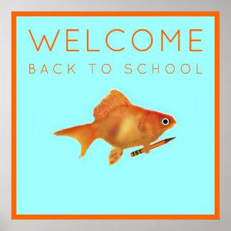 Willkommen zurück zu Schule Poster