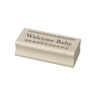 Willkommene Babygummi-Briefmarke Gummistempel