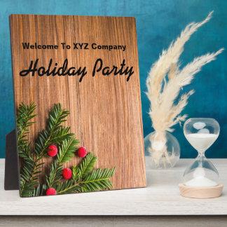 Willkommene Feiertags-Party-Mitteilung Fotoplatte