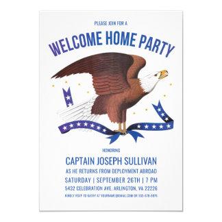 Willkommener Adler der Zuhause-Party Einladungs-  Karte