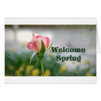 Willkommener Speicher des Frühlinges 2 h Grußkarte