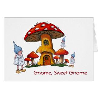Willkommenes neues Zuhause, Gnomes, Grußkarte