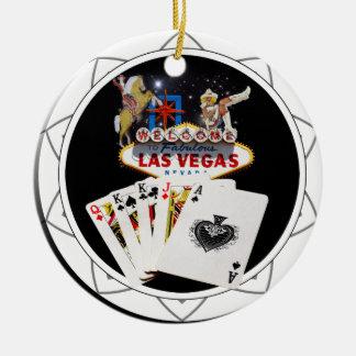 Willkommenes Zeichen-Schwarz-Poker-Chip Keramik Ornament