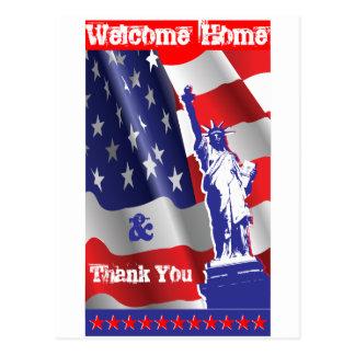 Willkommenes Zuhause &Thank Sie Postkarte