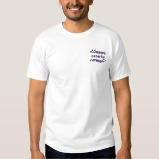 Willst du mich mit mir heiraten? besticktes T-Shirt