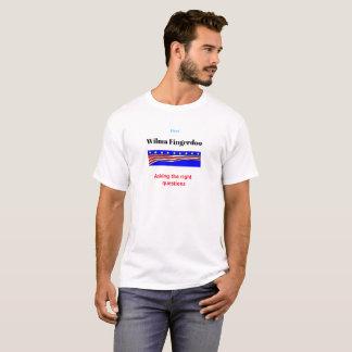 Wilma Fingerdoo, der das Recht fragt, stellt T-Shirt