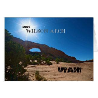 Wilson-Bogen, Utah Karte
