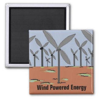 Wind angetriebene Windmühlen Quadratischer Magnet