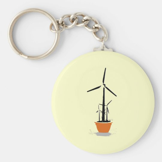 Wind-Blume Standard Runder Schlüsselanhänger