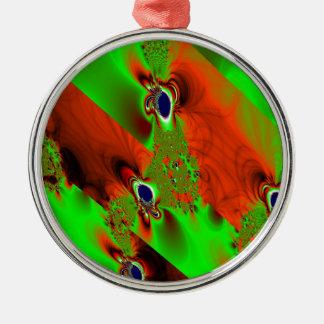 wind rundes silberfarbenes ornament