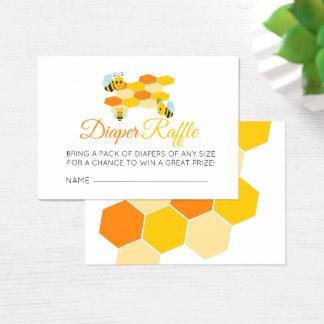 Windelraffle-Honig-Bienen-Babyparty Visitenkarte