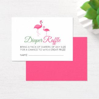 Windelraffle-Rosa-Flamingo-Babyparty Visitenkarte