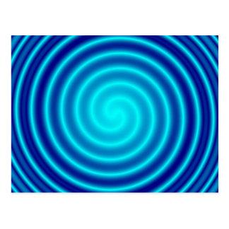 Windender blauer Schwindel Postkarte