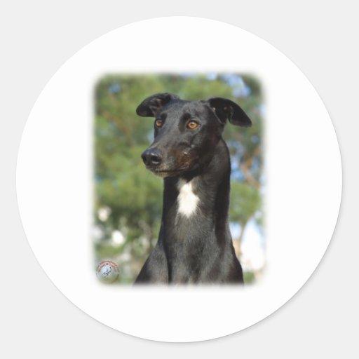 Windhund 9R022-146 Runder Sticker