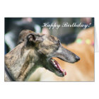 Windhund-alles Gute zum Geburtstaggrußkarte Karte