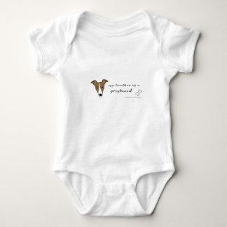 Windhund Baby Strampler