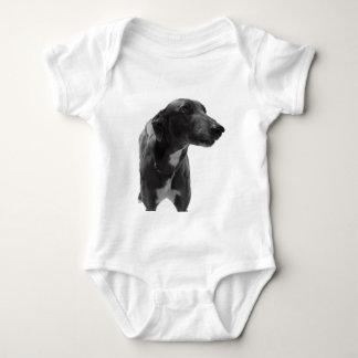 Windhund-Foto Baby Strampler