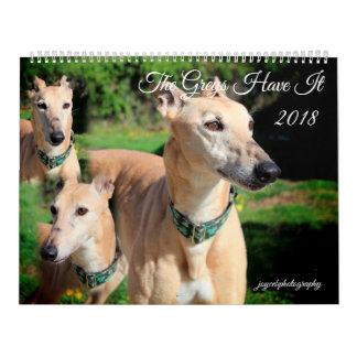 WINDHUND-HUNDEkalender 2018 Kalender