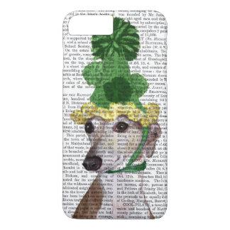 Windhund in Grün gestricktem Hut 2 iPhone 8 Plus/7 Plus Hülle