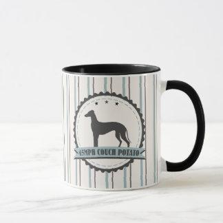 Windhund pensionierter fauler Hund des Tasse
