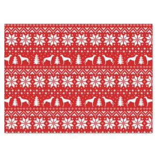 Windhund-Silhouette-Weihnachtsmuster Seidenpapier