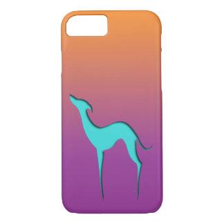 Windhund/Whippet blauer orange violetter iPhone 7 iPhone 8/7 Hülle