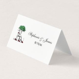 Windhund Whippet mit Baum-heraldischem Platzkarte
