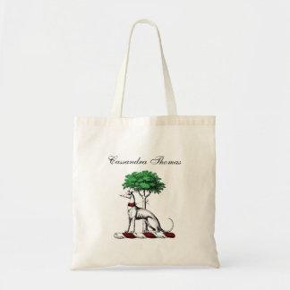 Windhund Whippet mit Baum-heraldischem Tragetasche
