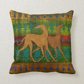 Windhunde Azawakh (grünblaue Kamee) Kissen