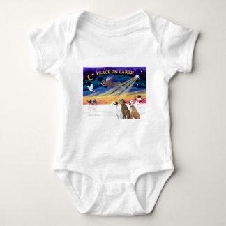 Windhunde XmasSunrise-3 Baby Strampler