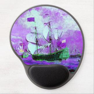 Windig, Schiffe, Ozean, Meer, bewegt wellenartig Gel Mouse Pad
