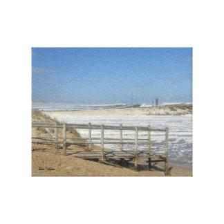 Windiger Strand Leinwanddruck