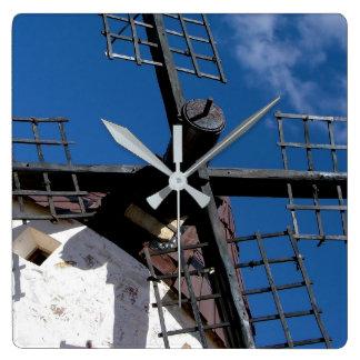 Windmühle im Vater des Schwiegersohnes, Toledo, Quadratische Wanduhr