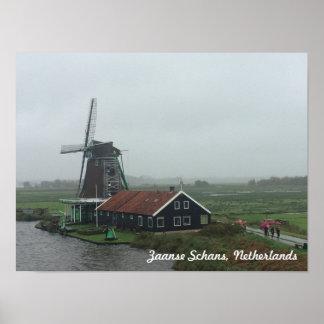 Windmühle in den Niederlanden Poster
