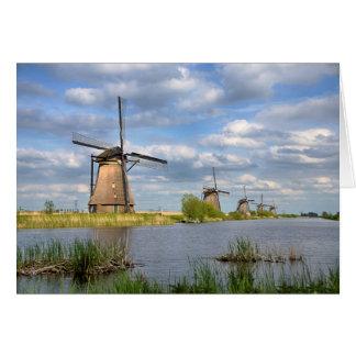 Windmühlen in der Holland-Gruß-Karte Karte