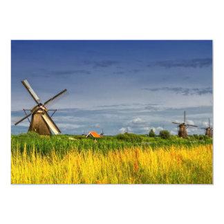 Windmühlen in Kinderdijk, Holland, die Niederlande Karte