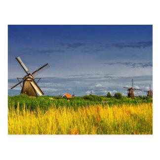 Windmühlen in Kinderdijk, Holland, die Niederlande Postkarte