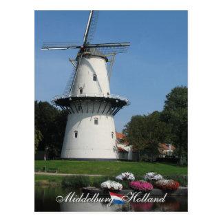 Windmühlen-Middelburg-Postkarte Postkarte