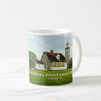 Windmühlen-Punkt-Leuchtturm, Vermont-Tasse Kaffeetasse